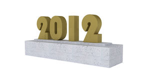 2012 Year isolated on white. 3d illustration Royalty Free Stock Photography
