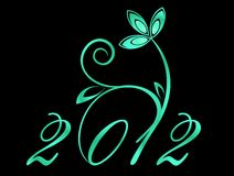 2012 year sign Stock Image