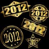 2012 złoto znaczki Zdjęcia Stock