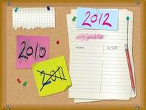 2012 zaproszenia przyjęcie Obrazy Stock