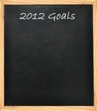 2012 Ziele Stockbild