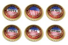 2012个按钮选择露指手套总统romney 图库摄影