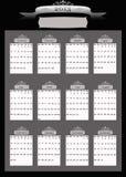2013个专业人员企业日历 库存照片