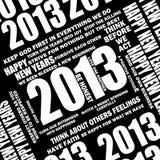 2013个postive报价 向量例证