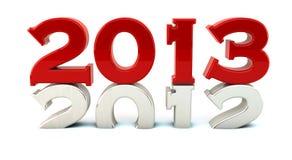 2013年在3d 免版税库存图片