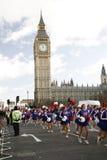 2013年,伦敦新年游行 免版税库存照片