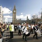 2013年,伦敦新年游行 库存图片