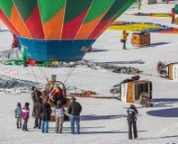 2013第35个热空气气球节日,瑞士 免版税图库摄影