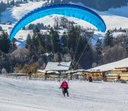 2013第35个热空气气球节日,瑞士 图库摄影