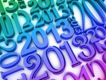 2013 år vektor illustrationer