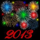 2013 πυροτεχνήματα Στοκ εικόνες με δικαίωμα ελεύθερης χρήσης