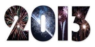 2013 πυροτεχνήματα διανυσματική απεικόνιση