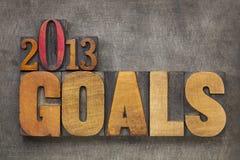 2013 στόχοι Στοκ εικόνα με δικαίωμα ελεύθερης χρήσης