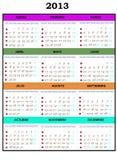 2013 календарного года стоковые фото