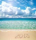 2013年在沙子 免版税库存照片