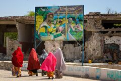 2013_01_15_Somali_Artists_Shoot_II h Stock Images