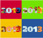 2013 - 01. Illustration with a symbol of year 2013 - 01 vector illustration
