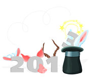 2013 - 04. Illustration with a symbol of year 2013 - 04 Royalty Free Stock Photos