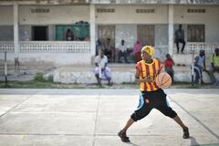 2013_07_06_Mogadishu_Basketball_E.jpg Stock Photo