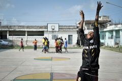 2013_07_06_Mogadishu_Basketball_I.jpg Royalty Free Stock Photos