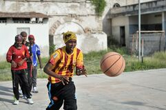 2013_07_06_Mogadishu_Basketball_J.jpg Stock Images