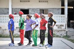 2013_07_06_Mogadishu_Basketball_K.jpg Royalty Free Stock Images