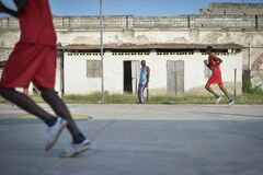 2013_07_06_Mogadishu_Basketball_L.jpg Stock Photography