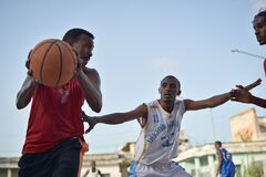 2013_07_06_Mogadishu_Basketball_N.jpg Royalty Free Stock Images