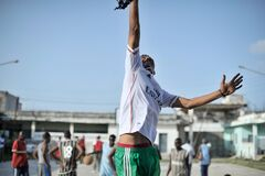 2013_07_06_Mogadishu_Basketball_O.jpg Royalty Free Stock Images