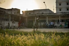 2013_07_06_Mogadishu_Basketball_T.jpg Royalty Free Stock Photos