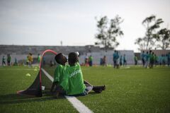 2013_08_19_FIFA_Childrens_Day_G.jpg Stock Image