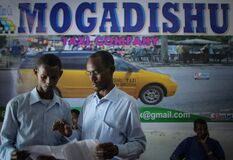2013_09_01_Mogadishu_Taxi_Company_007 Stock Photo