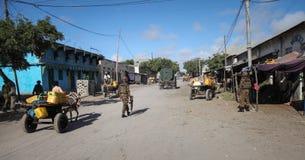 2013_10_20_AMISOM_KDF_Kismayo_Town_001 Stock Image