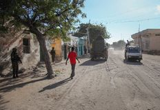 2013_10_20_AMISOM_KDF_Kismayo_Town_003 Stock Photos