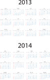 2013-2014 calendar Royalty Free Stock Photos