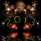 Ζωηρόχρωμα 2013 νέα πυροτεχνήματα έτους Στοκ εικόνες με δικαίωμα ελεύθερης χρήσης