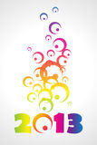 2013. Vector 2013 colorful floral background Stock Images