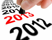 跨步到下一年2013年 免版税库存照片