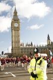 2013年,伦敦新年游行 库存照片