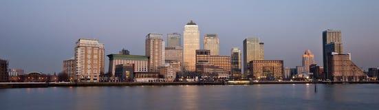 伦敦财务区全景地平线2013年 免版税库存照片