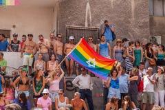 同性恋自豪日游行特拉唯夫2013年 免版税库存照片