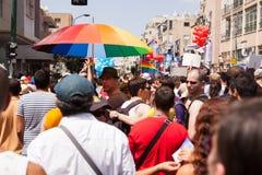同性恋自豪日游行特拉唯夫2013年 图库摄影