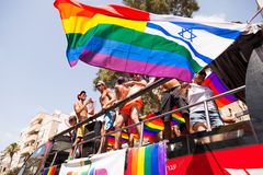 同性恋自豪日游行特拉唯夫2013年 免版税库存图片