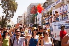 Ομοφυλοφιλική παρέλαση Τελ Αβίβ 2013 υπερηφάνειας Στοκ εικόνες με δικαίωμα ελεύθερης χρήσης