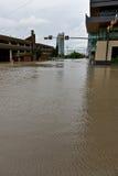 卡尔加里洪水2013年 库存图片