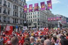 同性恋自豪日2013年伦敦 库存照片