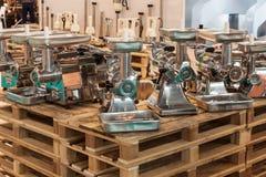 Μηχανή κοπής κιμά στον οικοδεσπότη 2013 στο Μιλάνο, Ιταλία Στοκ φωτογραφία με δικαίωμα ελεύθερης χρήσης