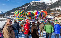 2013 35th Hot Air Balloon Festival, Switzerland Royalty Free Stock Photos
