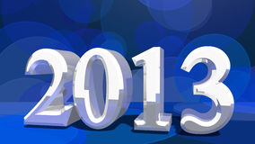 2013 in 3d Royalty Free Stock Photography