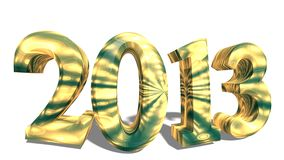 2013 in 3d Stock Image